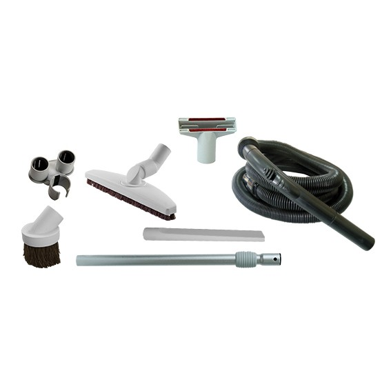 Quick cleaning set for central vacuum cleaners