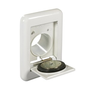 BVC inlet valve pure white aluminium